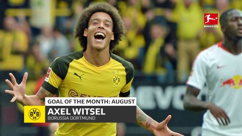 Axel Witsel wins August Goal of the Month!