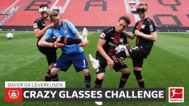 Watch: Leverkusen do the Crazy Glasses Challenge!