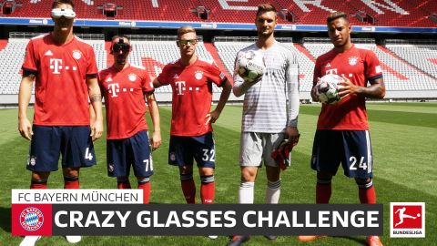 Watch: Bayern do the Crazy Glasses Challenge!