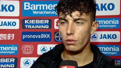 "Watch: Havertz ""relieved"" after Bayer win"