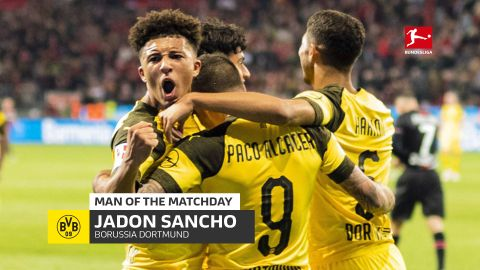 Jadon Sancho: MD6's Man of the Matchday
