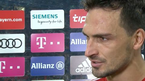 "Watch: Hummels: ""We're not creating pressure"""