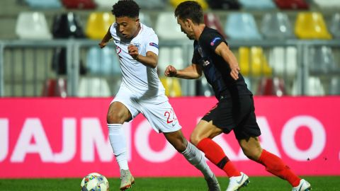 Sancho makes England debut