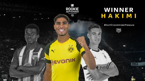 Watch: Hakimi named Rookie of the Month