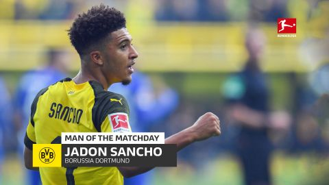 Jadon Sancho: MD9 Man of the Matchday
