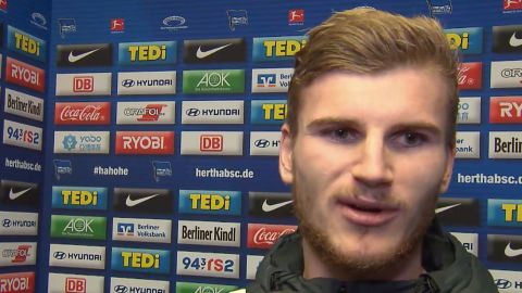 Watch: Werner credits team display at Hertha