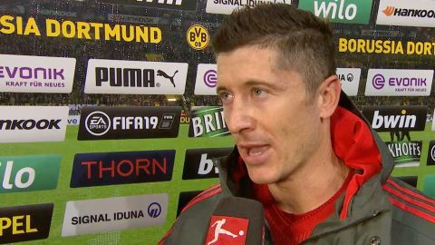 Watch: Lewandowski explains Bayern's Dortmund loss