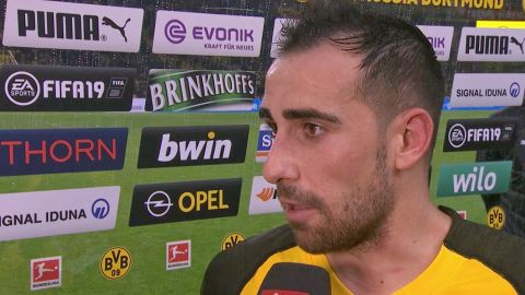 Watch: Alcacer dedicates win to BVB fans