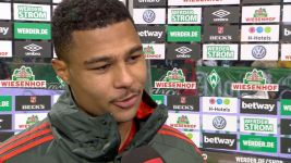 "Watch: Gnabry: ""Bremen never easy"""