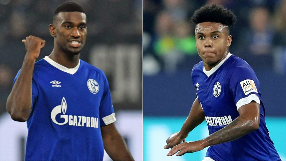 63b5aee71 USA international Weston McKennie (r.) has beaten a path into the Schalke  first team the compatriot and team-mate Haji Wright will be looking to  follow.
