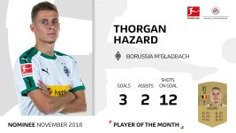 November Player of the Month candidate: Hazard