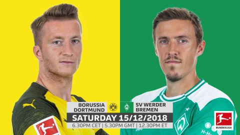 Dortmund vs. Bremen: team news