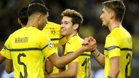 Dortmund beat Monaco to top Group A