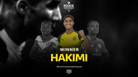 Watch: Achraf Hakimi named Rookie of the Month