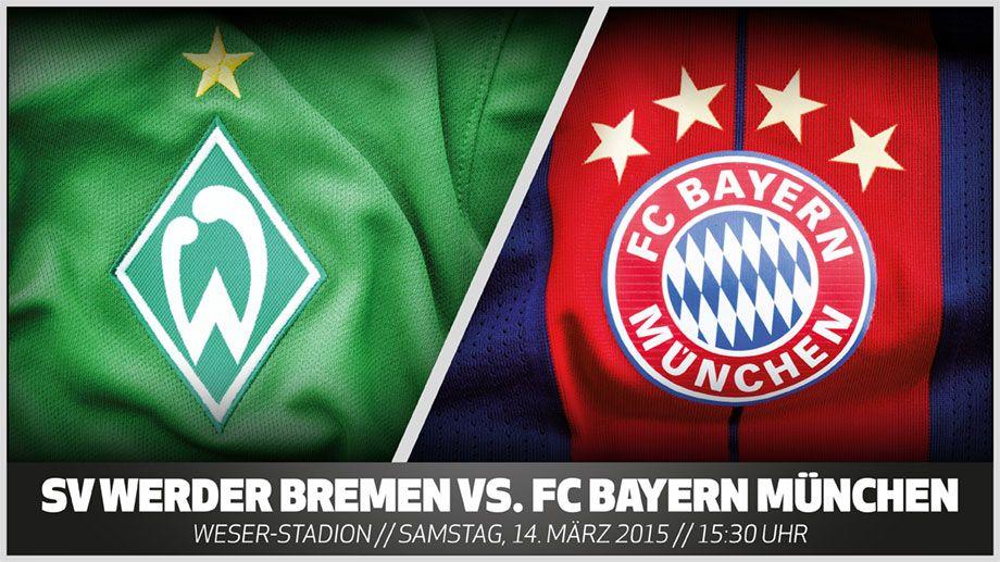 Bundesliga Werder Bremen Bayern München Vorschau 25 Spieltag