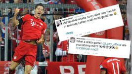 Lewandowski's night of records - social media reaction