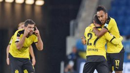Historic Aubameyang strike keeps Dortmund ticking