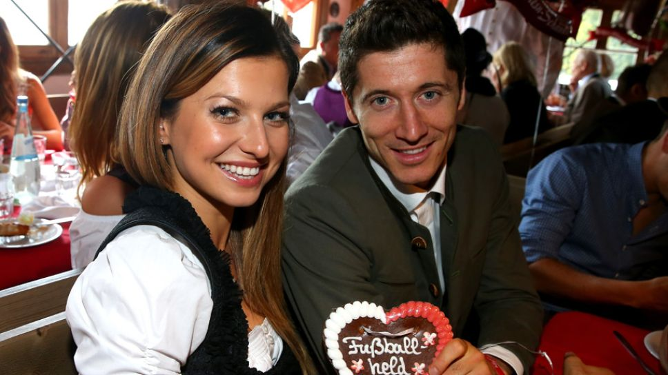 Image result for robert lewandowski and wife