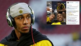Pierre-Emerick Aubameyang on social media